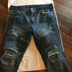 PacSun Stacked Skinny Moto Jeans 36/32